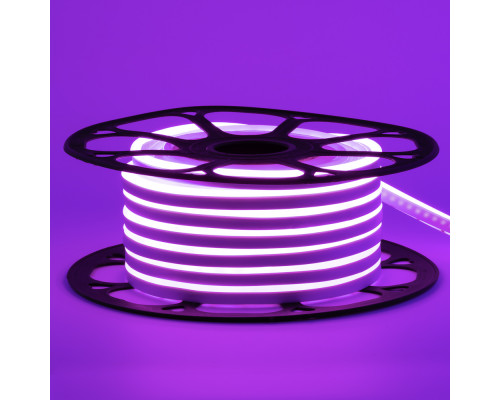 Led неон 12В фиолетовый 6х12 AVT smd2835 120LED/m 6W IP65 силикон, 1м