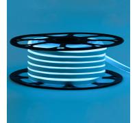 Led неон 12В голубой лед 6х12 AVT smd2835 120LED/m 6W IP65 силикон, 1м