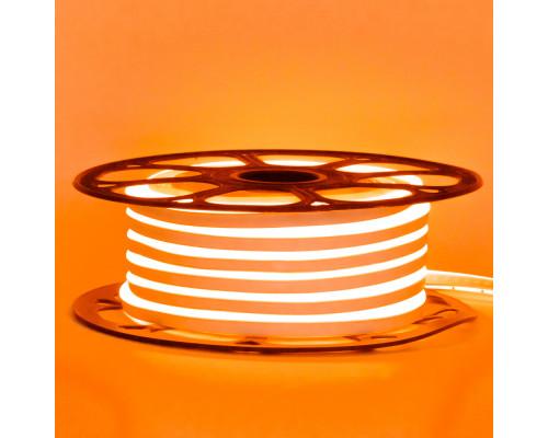 Led неон 12В оранжевый 6х12 AVT smd2835 120LED/m 6W IP65 силикон, 1м