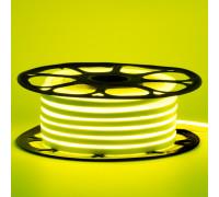 Led неон 12В лимонная 6х12 AVT smd2835 120LED/m 6W IP65 силикон, 1м