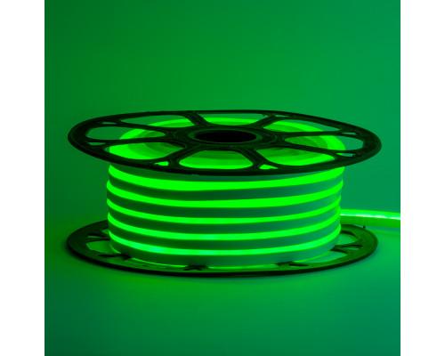Led неон 12В зеленый 8х16 пвх smd2835 120LED/m 6W IP65 , 1м