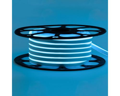 Led неон 12В голубой 8х16 пвх smd2835 120LED/m 6W IP65 , 1м