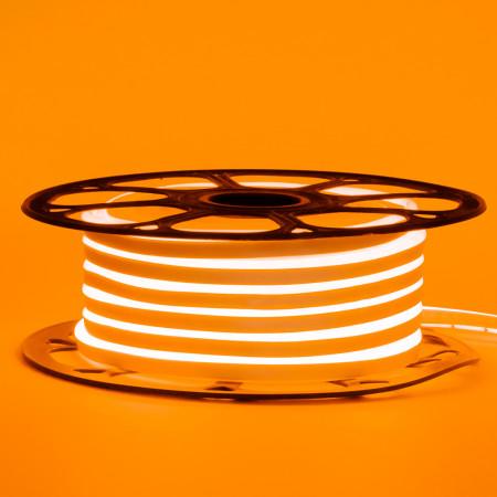 Купить Led неон 12В оранжевый 8х16 пвх smd2835 120LED/m 6W IP65 , 1м