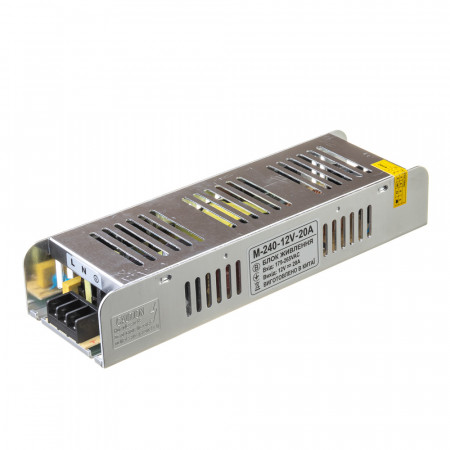 Купить Led блок питания 12 V М/20 A 240 Bт IP 20