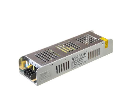 Led блок питания 12 V М/20 A 240 Bт IP 20