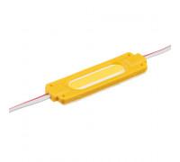 Модуль светодиодный желтый 12в COB 1LED 2Вт герметичный