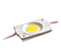 Модуль светодиодный белый теплый 12в СОВ круглый 1LED 2,4Вт герметичный