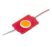 Модуль светодиодный красный 12в СОВ круглый 1LED 2,4Вт герметичный