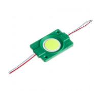 Модуль СОВ 12V зеленый 1led 2.4Вт круг IP65