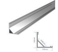 Профиль алюминиевый накладной полуматовый рассеиватель (комплект) 2м ПФ-9