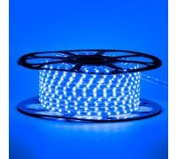 Мигающая led лента 220 В синяя smd 2835 48led/м 6Вт/м IP65, 1м