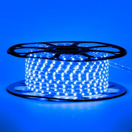 Купить Мигающая led лента 220 В синяя smd 2835 48led/м 6Вт/м IP65, 1м