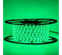 Лед лента 220 В зеленая smd 2835 48led/м 6Вт/м IP65, 1м
