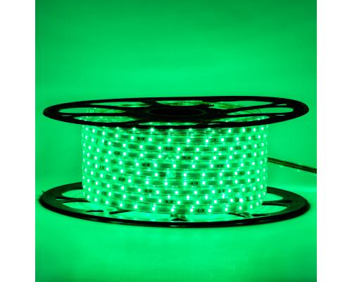 Мигающая led лента 220 В зеленая smd 2835 48led/м 6Вт/м IP65, 1м