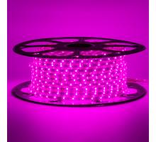 Лед лента 220 В фиолетовая smd 2835 48led/м 6Вт/м IP65, 1м