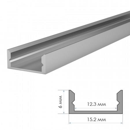 Купить Профиль алюминиевый накладной (комплект) 2м ПФ-18 + рассеиватель