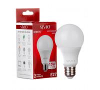 Led лампа Sivio 15Вт A65 нейтральная белая E27 4100K
