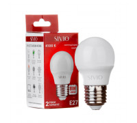 Led лампа Sivio 8Вт G45 нейтральная белая E27 4100K