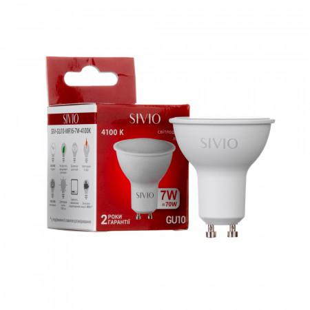 Купить Светодиодная лампа 7вт sivio нейтральная белая GU10 4100K MR16