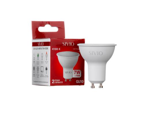 Светодиодная лампа 7вт sivio нейтральная белая GU10 4100K MR16