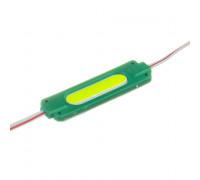 Модуль светодиодный зеленый 24в COB 1LED 2Вт герметичный