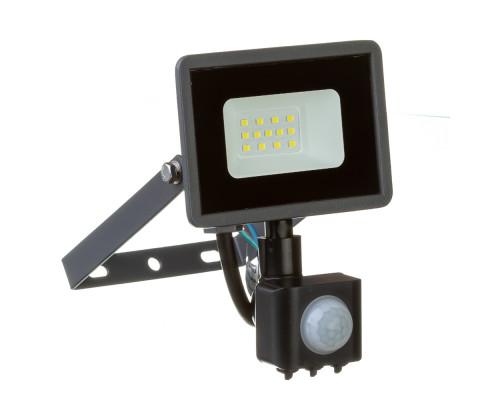 Светодиодный прожектор с датчиком движения 220в AVT 6000K 10Вт герметичный