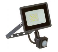 Светодиодный прожектор с датчиком движения 220в AVT 6000K 20Вт герметичный