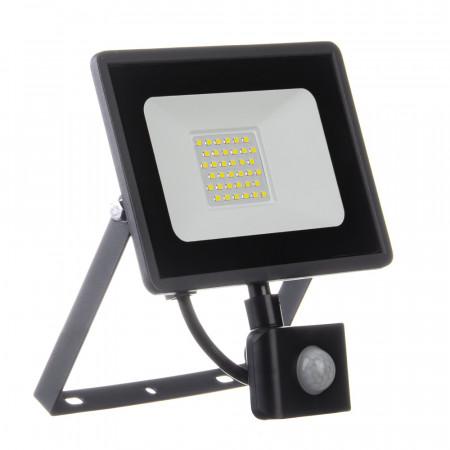 Купить Светодиодный прожектор с датчиком движения 220в AVT 6000K 30Вт герметичный