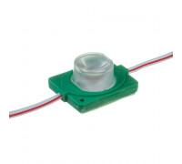 Модуль инжекторный светодиодный зеленый 12в smd3030 1LED 1.5Вт герметичный