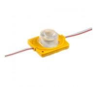 Модуль инжекторный светодиодный желтый 12в smd3030 1LED 1.5Вт герметичный
