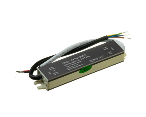 Led блок питания NEW AVT-24V влагозащита IP 65 1.25А - 30W