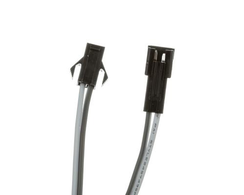Led коннектор 2pin серый (20см провод) с зажимом (комплект папа + мама)